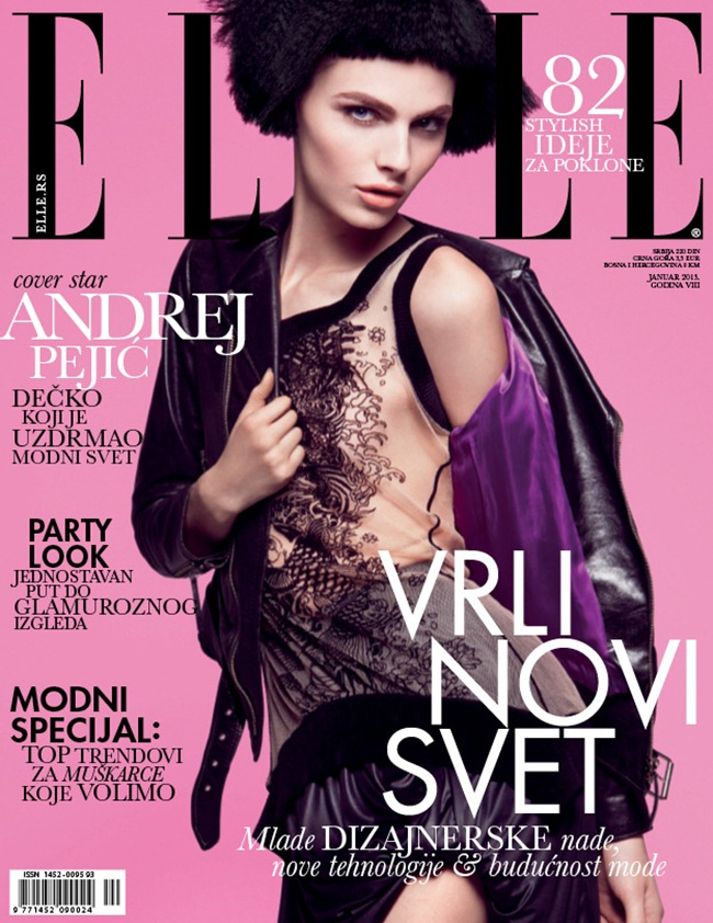ELLE SERBIA- Andrej Pejic by Dusan Reljin. Lauren Bensky, January 2013, www.imageamplified.com, Image Amplified