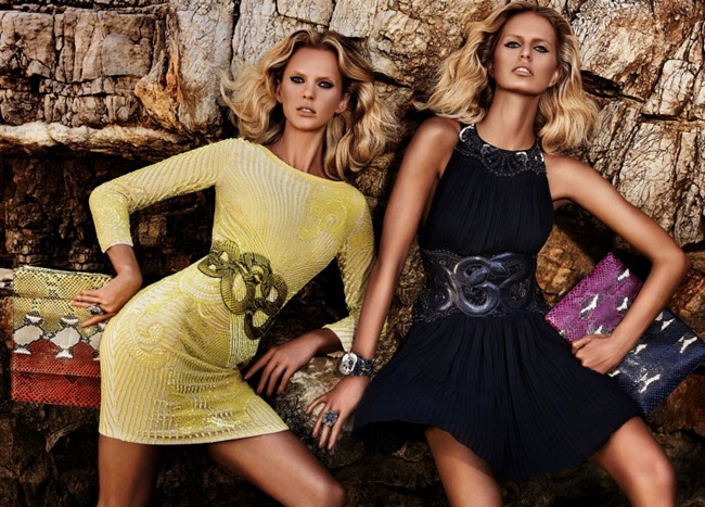 CAMPAIGN- Anne Vyalitsyna & Karolina Kurkova for Roberto Cavalli Resort 2013 by Giampaolo Sgura. www.imageamplified.com, Image Amplified (1)