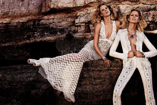 CAMPAIGN- Anne Vyalitsyna & Karolina Kurkova for Roberto Cavalli Resort 2013 by Giampaolo Sgura. www.imageamplified.com, Image Amplified (2)