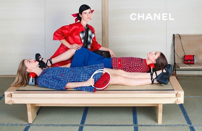 CAMPAIGN- Stella Tennant, Ondria Hardin & Yumi Lambert for Chanel Spring 2013 by Karl Lagerfeld. www.imageamplified.com, Image Amplified (2)
