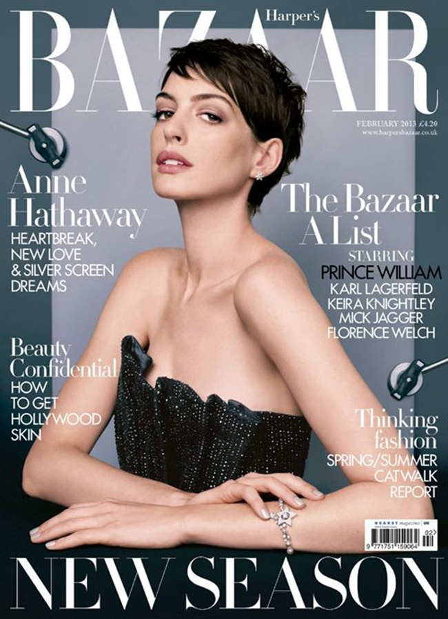 PREVIEW- Anne Hathaway in A is For Anne for Harper's Bazaar UK, February 2013 by David Slijper. Leith Clark, www.imageamplified.com, Image Amplified (1)