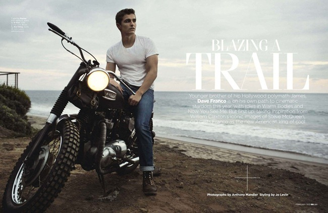GQ UK- Dave Franco in Blazing A Trail by Anthony Mandler. Jo Levin, February 2013, www.imageamplified.com, Image Amplified