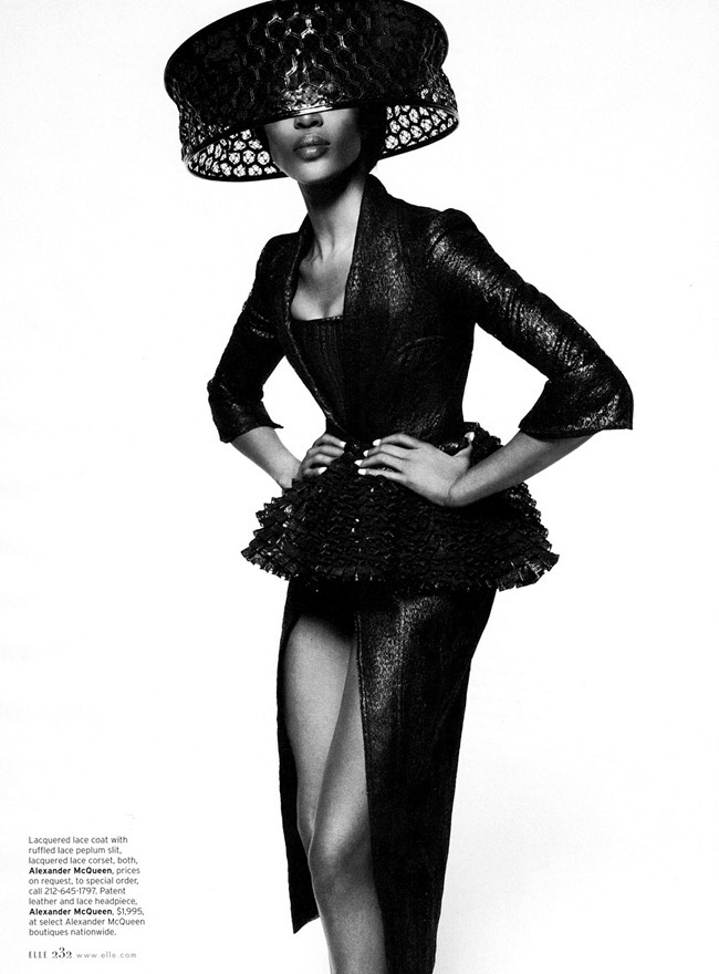 ELLE MAGAZINE- Naomi Campbell in Leave It To Diva by Thomas Whiteside. Christopher Niquet, February 2013, www.imageamplified.com, Image Amplified