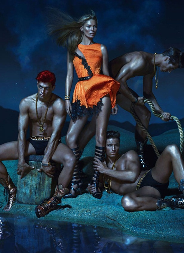 CAMPAIGN- Kate Moss, Edward Wilding, Kacey Carrig, Veit Couturier, Daria Werbowy & Joan Smalls for Versace Spring 2013 by Mert & Marcus. www.imageamplified.com, Image Amplified (9)