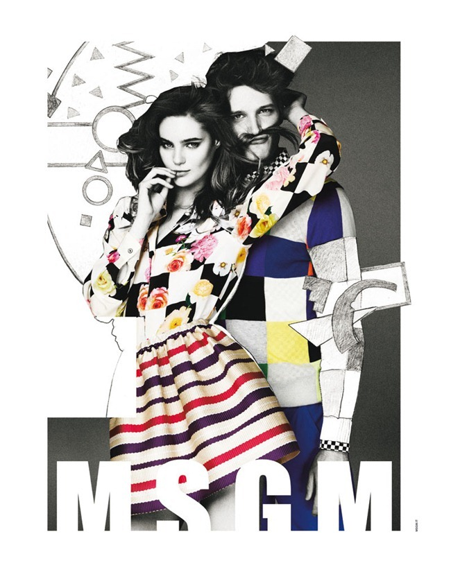 CAMPAIGN- Juju Ivanyuk & Florian Van Bael for MSGM Spring 2013 by Giampaolo Sgura, www.imageamplified.com, Image Amplified (3)