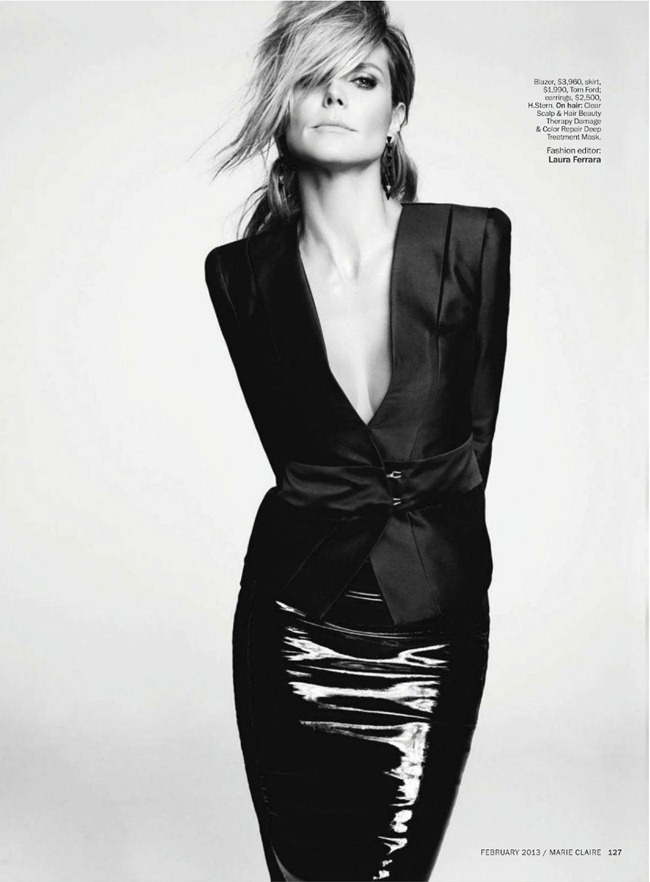 MARIE CLAIRE MAGAZINE- Heidi Klum in The Heidi Chronicles by TEsh. Laura Ferrara, February 2013, www.imageamplified.com, Image Amplified (3)