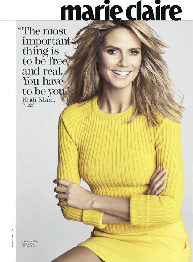 MARIE CLAIRE MAGAZINE- Heidi Klum in The Heidi Chronicles by TEsh. Laura Ferrara, February 2013, www.imageamplified.com, Image Amplified (1)