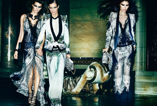 CAMPAIGN- Malgosia Bela, Isabeli Fontana & Sui He for Roberto Cavalli Spring 2013 by Mario Testino. www.imageamplified.com, Image Amplified (5)