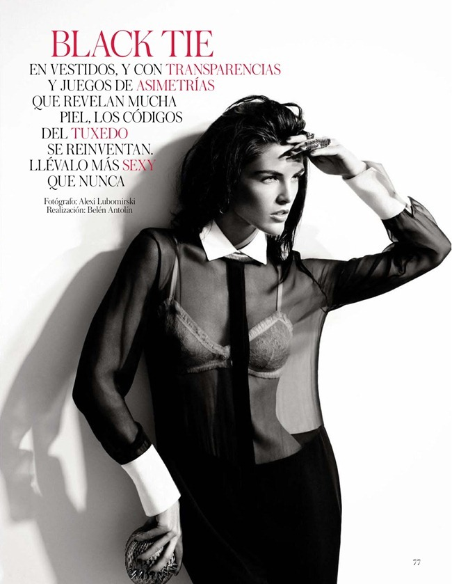 VOGUE SPAIN- Hilary Rhoda in Black Tie by Alexi Lubomirski. Belen Antolin, February 2013, www.imageamplified.com, Image Amplified (1)