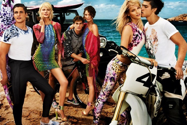 CAMPAIGN- Aline Weber, Emily DiDonato, Ginta Lapina, Chris Bunn, Chris Petersen & Thomas Guarracino for Just Cavalli Spring 2013 by Giampaolo Sgura. www.imageamplified.com, Image Amplified (1)