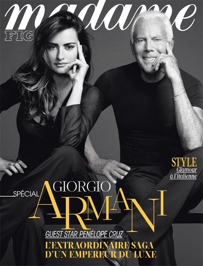 MADAME FIGARO FRANCE- Penelope Cruz & Giorgio Armani by Nico. January 2013, www.imageamplified.com, Image Amplified