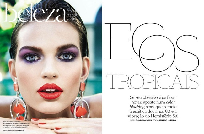 VOGUE BRAZIL- Bette Franke in Ecos Tropicais by Giampaolo Sgura. Anna Dello Russo, February 2013, www.imageamplified.com, Image Amplified