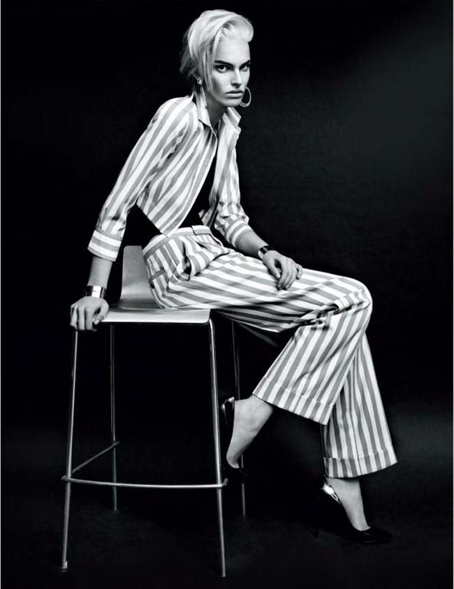 JALOUSE MAGAZINE- Lisa Verberght in Black Stripes by Bjarne Jonasson. Anne Sophie Thomas, February 2013, www.imageamplified.com, Image Amplified (7)