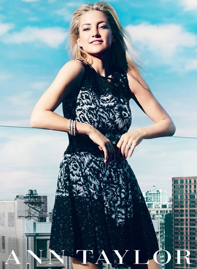 CAMPAIGN- Kate Hudson for Ann Taylor Spring 2013 by Norman Jean Royo. www.imageamplified.com, Image Amplified