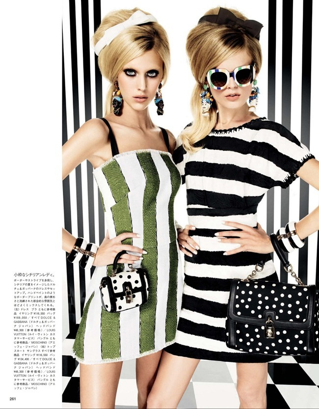 VOGUE JAPAN- Hanne Gaby Odiele & Juliana Schurig in Graphics Gone Wild by Giampaolo Sgura. Anna Dello Russo, March 2013, www.imageamplified.com, Image Amplified (8)