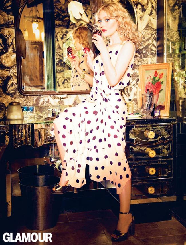 GLAMOUR MAGAZINE- Dakota Fanning by Ellen von Unwerth. Anne Christensen, March 2013, www.imageamplified.com, Image Amplified (1)