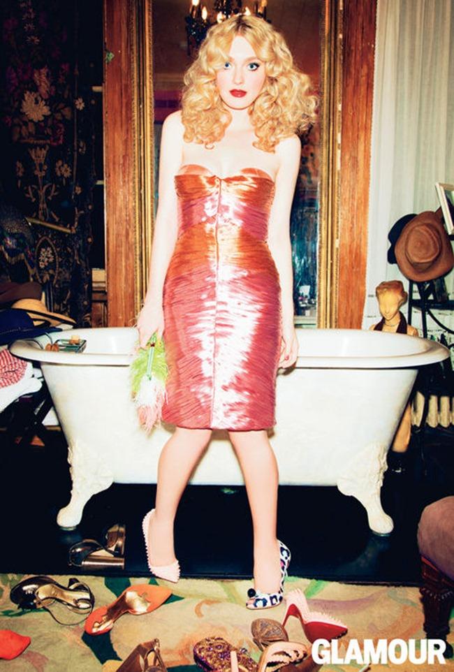 GLAMOUR MAGAZINE- Dakota Fanning by Ellen von Unwerth. Anne Christensen, March 2013, www.imageamplified.com, Image Amplified (3)