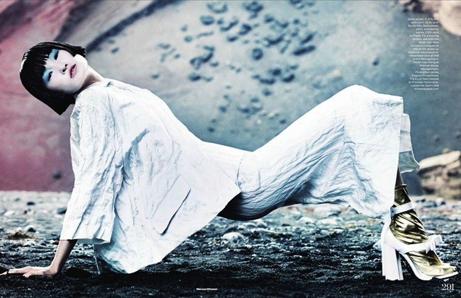 ELLE UK- Wang Xiao in New Frontiers by Marcus Ohlsson. Anne-Marie Curtis, March 2013, www.imageamplified.com, Image Amplified