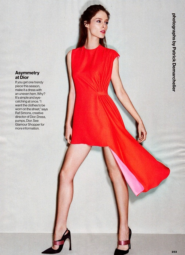 GLAMOUR MAGAZINE- Coco Rocha in Trends With Benefits by Patrick Demarchelier. Anne Christensen, March 2013, www.imageamplified.com, Image Amplified