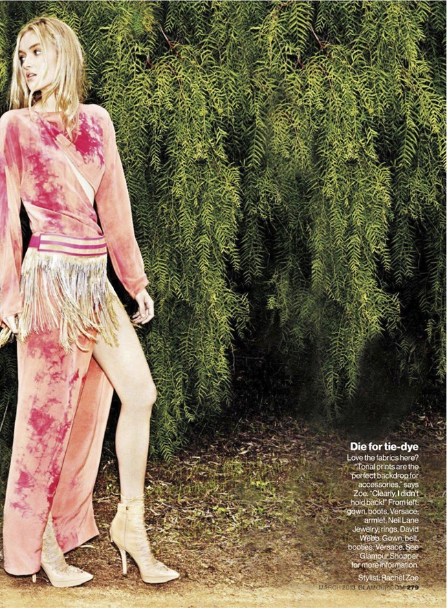 GLAMOUR MAGAZINE- Hind Sahli & Melissa Johannsen in You Gotta Go Boho by Frederike Helwig. Rachel Zoe, March 2013, www.imageamplified.com, Image Amplified (1)