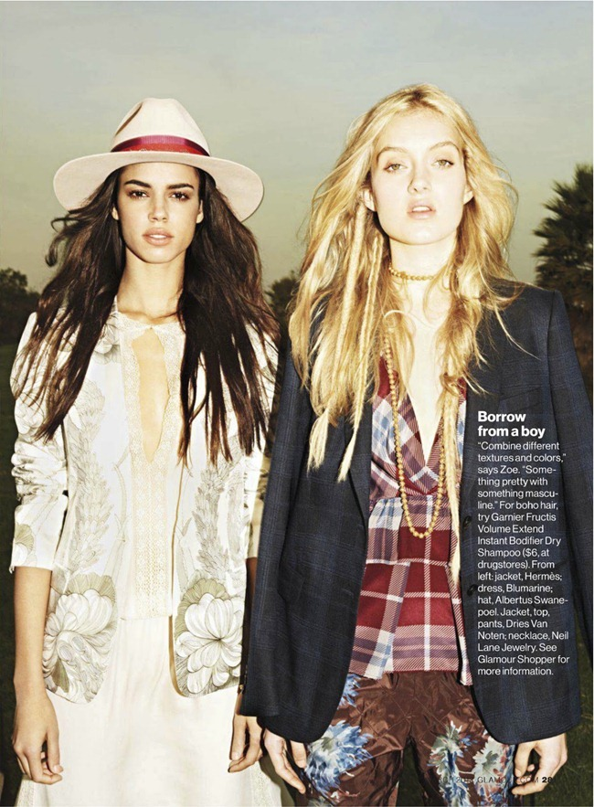 GLAMOUR MAGAZINE- Hind Sahli & Melissa Johannsen in You Gotta Go Boho by Frederike Helwig. Rachel Zoe, March 2013, www.imageamplified.com, Image Amplified (3)