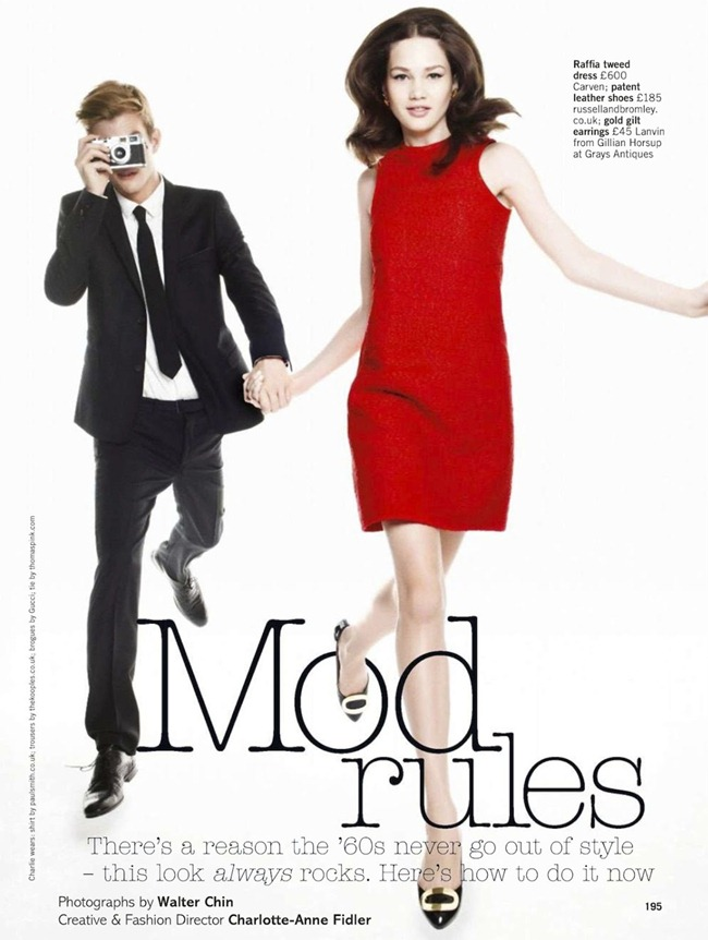 GLAMOUR UK- Lena Lomkova & Charlie Mills in Mod Rules by Walter Chin. Charlotte-Anne Fidler, March 2013, www.imageamplified.com, Image Amplified (1)