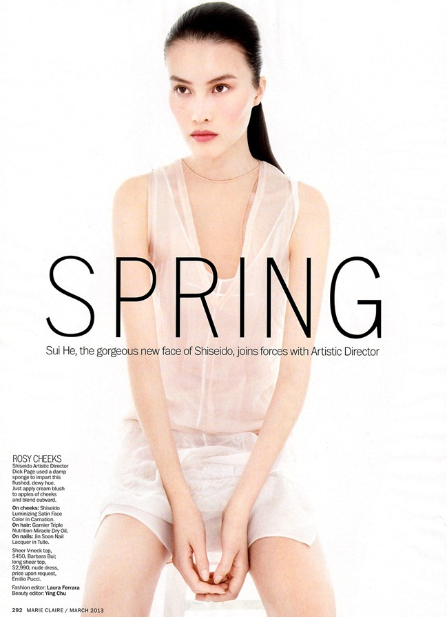 MARIE CLAIRE MAGAZINE- Sui He in Spring Forward by Alex Cayley. Laura Ferrara, March 2013, www.imageamplified.com, Image Amplified (1)