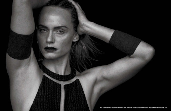 VOGUE ITALIA- Amber Valletta by Peter Lindbergh, February 2013, www.imageamplified.com, Image Amplified (2)
