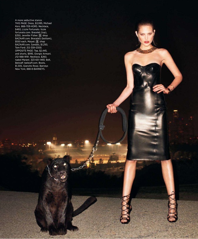 HARPER'S BAZAAR MAGAZINE- Catherine McNeil in Black Brings Sexy Back by Terry Richardson. Clare Richardson, March 2013, www.imageamplified.com, Image Amplified (4)
