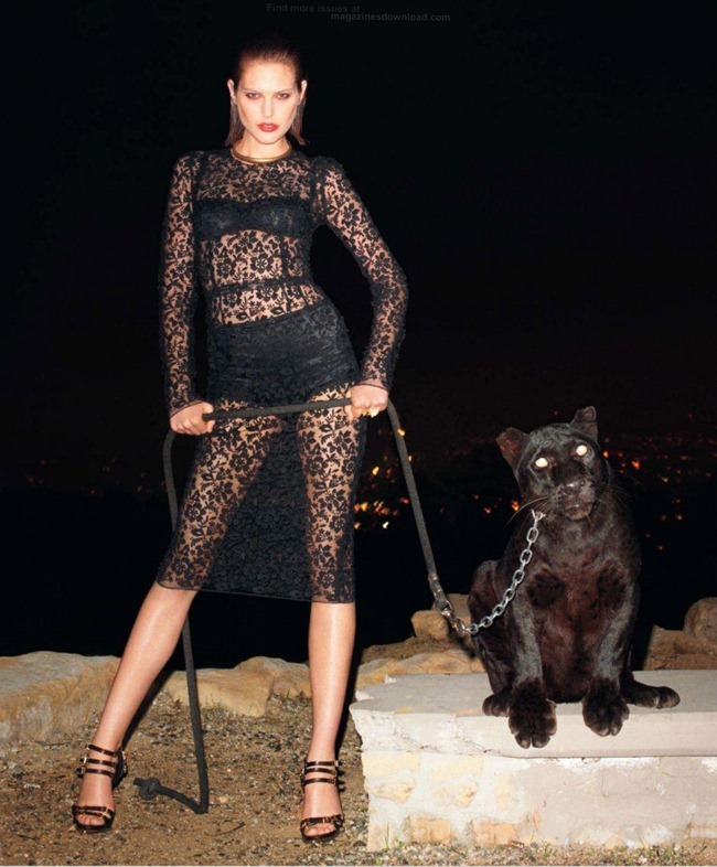 HARPER'S BAZAAR MAGAZINE- Catherine McNeil in Black Brings Sexy Back by Terry Richardson. Clare Richardson, March 2013, www.imageamplified.com, Image Amplified (2)
