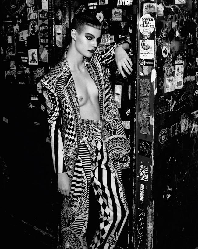 PURPLE MAGAZINE- Ehren Dorsey in Re-Fashion Punk by Alasdair McLellan. Jane How, Spring 2013, www.imageamplified.com, Image Amplified