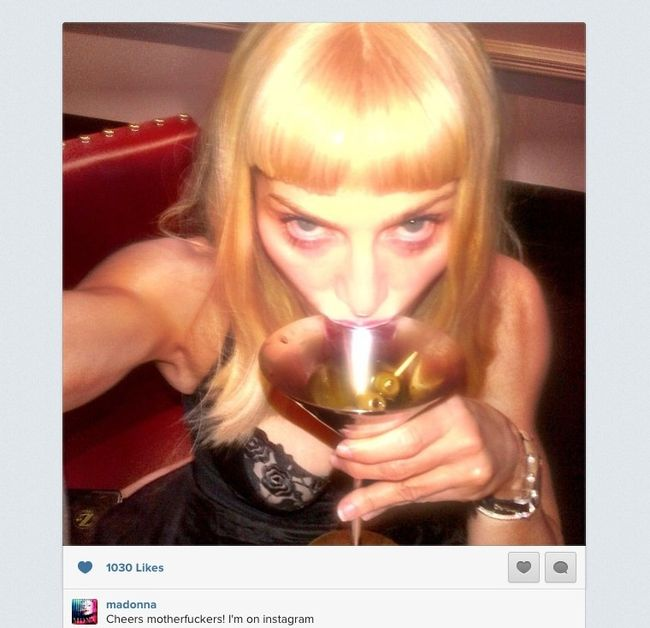 UPDATES: Madonna on Instagram. Image Amplified www.imageamplified.com