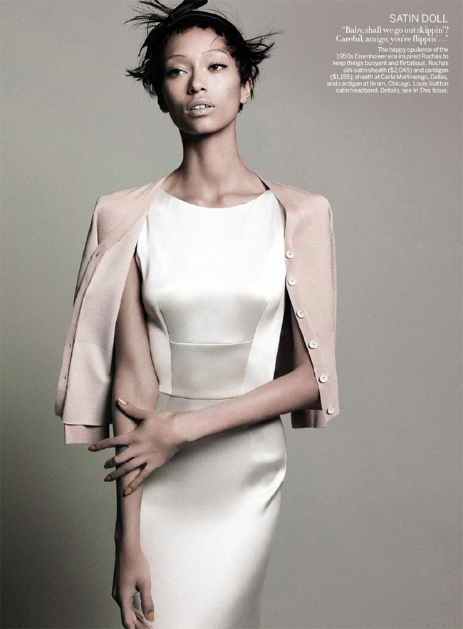 VOGUE MAGAZINE- Anais Mali & Edie Campbell in Retro Remix by David Sims. Grace Coddington, March 2013, www.imageamplified.com, Image Amplified (2)