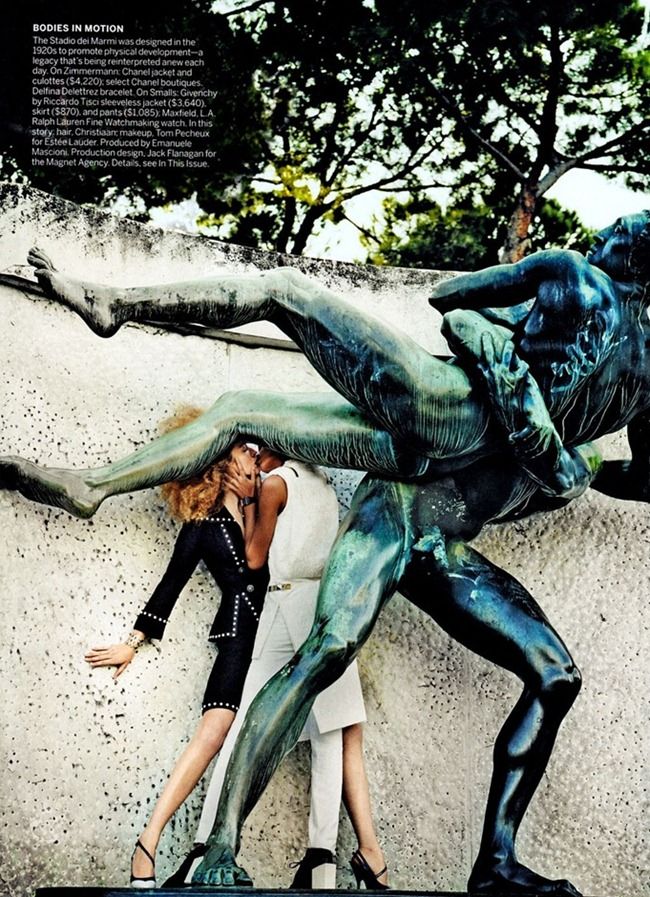 VOGUE MAGAZINE- Raquel Zimmermann & Joan Smalls in To Rome With Love by Mario Testino. Tonne Goodman, March 2013, www.imageamplified.com, Image Amplified (4)