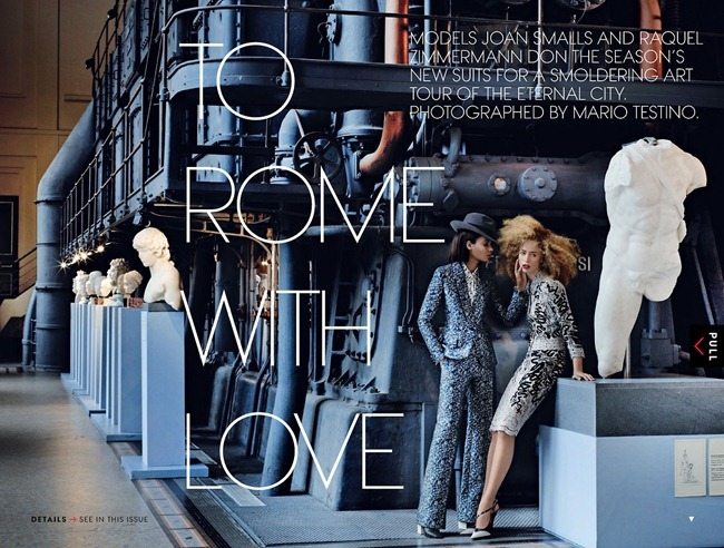 VOGUE MAGAZINE- Raquel Zimmermann & Joan Smalls in To Rome With Love by Mario Testino. Tonne Goodman, March 2013, www.imageamplified.com, Image Amplified (1)