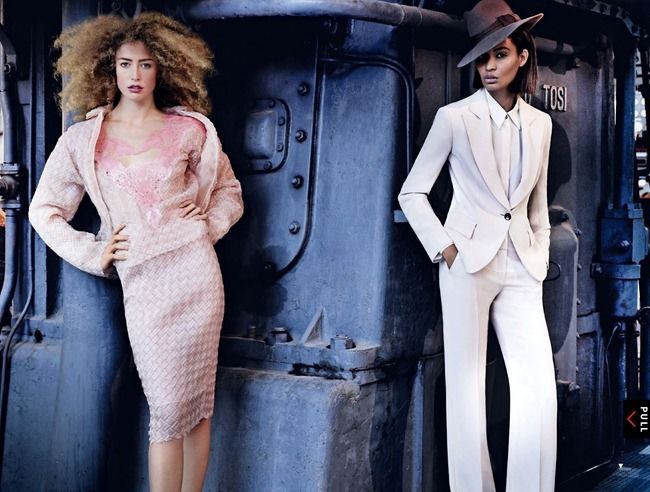 VOGUE MAGAZINE- Raquel Zimmermann & Joan Smalls in To Rome With Love by Mario Testino. Tonne Goodman, March 2013, www.imageamplified.com, Image Amplified (2)