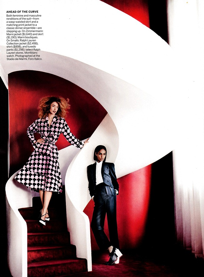 VOGUE MAGAZINE- Raquel Zimmermann & Joan Smalls in To Rome With Love by Mario Testino. Tonne Goodman, March 2013, www.imageamplified.com, Image Amplified (5)