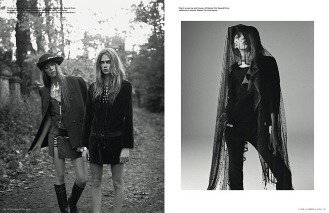 I-D MAGAZINE- Cara Delevigne, Codie Young, Magda Laguinge, Louise Parker & Charlie Bredal in Witches by Richard Bush. Sarah Richardson, Spring 2013, www.imageamplified.com, Image Amplified