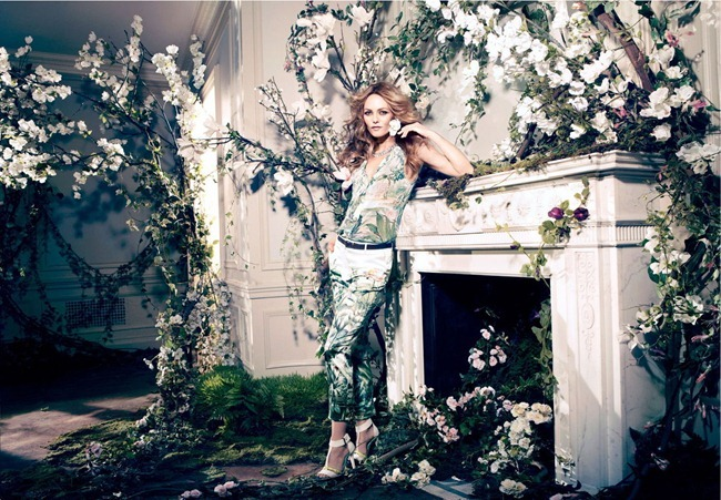 CAMPAIGN- Vanessa Paradis for H&M Concious Collection Spring 2013 by Camilla Akrans. www.imageamplified.com, Image Amplified