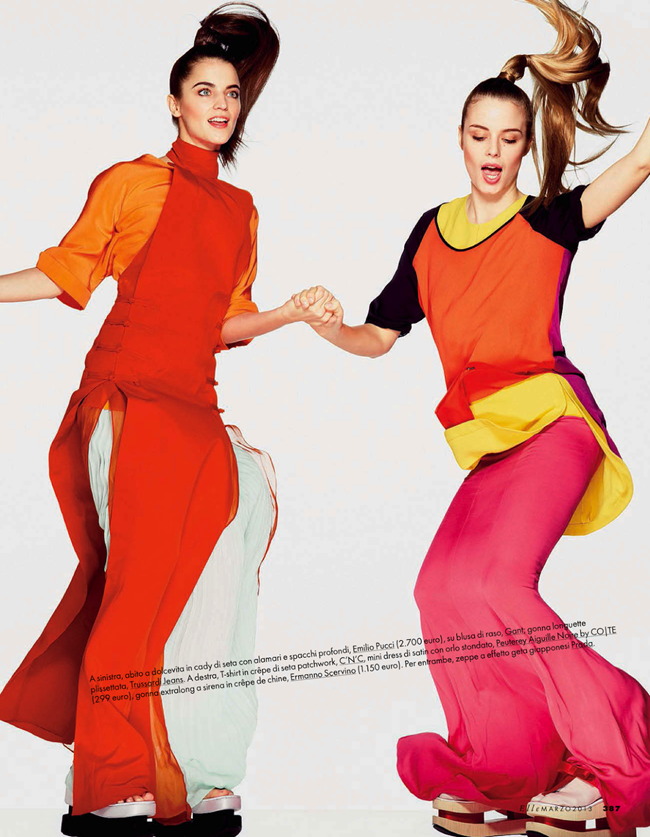 ELLE ITALY- Abi Fox & Angelina Nawojczyk in In Full Color by Alexei Hay. Alberto Zanoletti, March 2013, www.imageamplified.com, Image Amplified (2)
