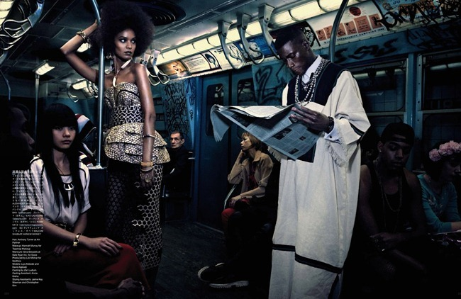 VOGUE JAPAN- Liya Kebede & DAvid Abbodji in The Vanishing Underground by Mikael Jansson. George Cortina, April 2013, www.imageamplified.com, Image Amplified (8)