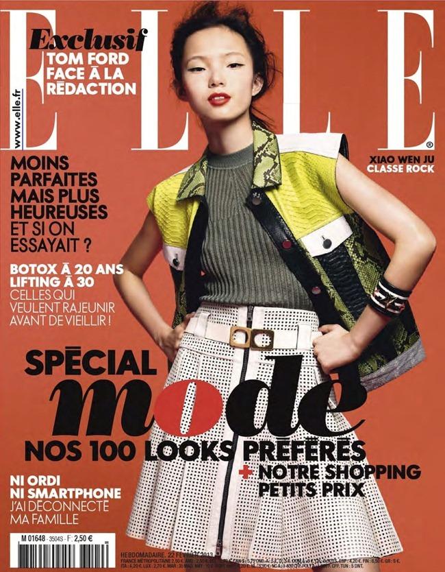 ELLE FRANCE- Xiao Wen Ju in Pop by Bjarne Jonasson. Michele Beaurenaut, February 2013, www.imageamplified.com, Image Amplified