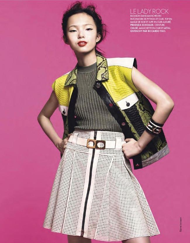 ELLE FRANCE- Xiao Wen Ju in Pop by Bjarne Jonasson. Michele Beaurenaut, February 2013, www.imageamplified.com, Image Amplified (15)