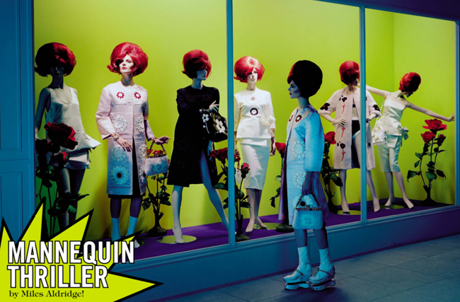 VOGUE ITALIA- Manequin Thriller by Miles Aldridge. March 2013, www.imageamplified.com, Image Amplified