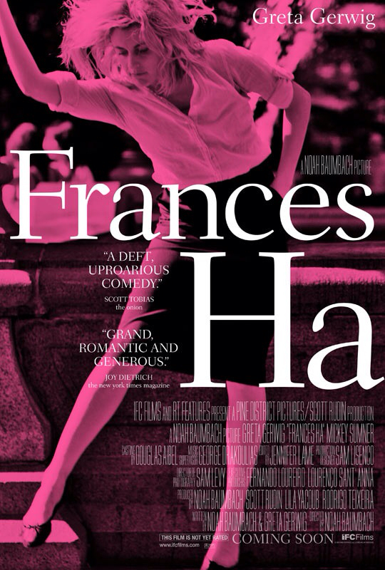 CINEMA SCAPE: Frances Ha Starring Greta Gerwig. In Theaters May 17, 2013