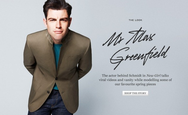 CAMPAIGN- Max Greenfield for MrPorter.com by Kai Z Feng. Grant Woolhead, www.imageamplified.com, Image Amplified