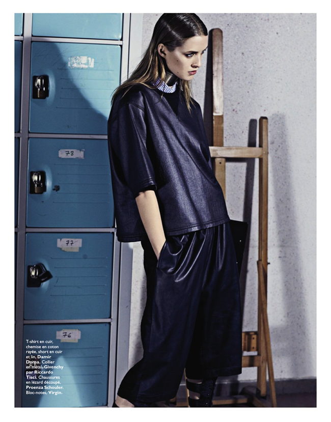 GRAZIA FRANCE- Julia Frauche in Cuir Particular by David Roemer. Teddy Czopp, March 2013, www.imageamplified.com, Image Amplified (3)