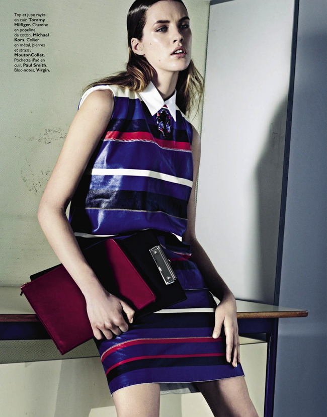 GRAZIA FRANCE- Julia Frauche in Cuir Particular by David Roemer. Teddy Czopp, March 2013, www.imageamplified.com, Image Amplified (4)