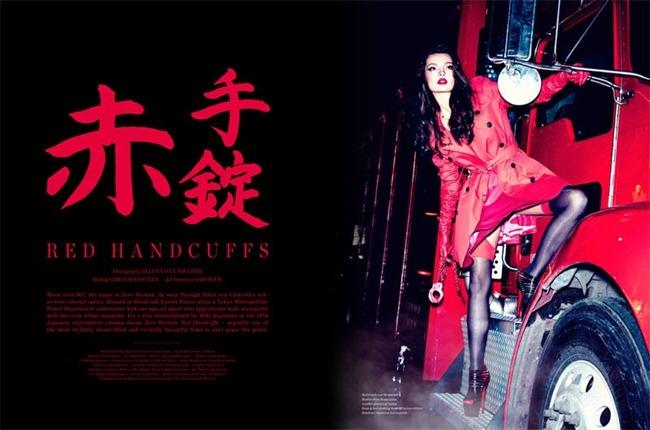VS. MAGAZINE- Carola Remer in Red Handcuffs by Ellen von Unwerth. Vibe Dabelsteen, www.imageamplified.com, Image Amplified