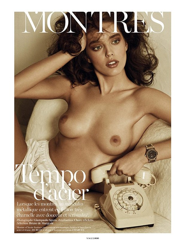 VOGUE PARIS- Emily DiDonato in Montres by Giampaolo Sgura. Claire Dhelens, April 2013, www.imageamplified.com, Image Amplified